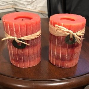 2, Pier1 red candles.